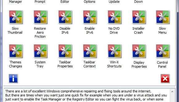 Quelques tweaks pour Windows 7 : QuickFix