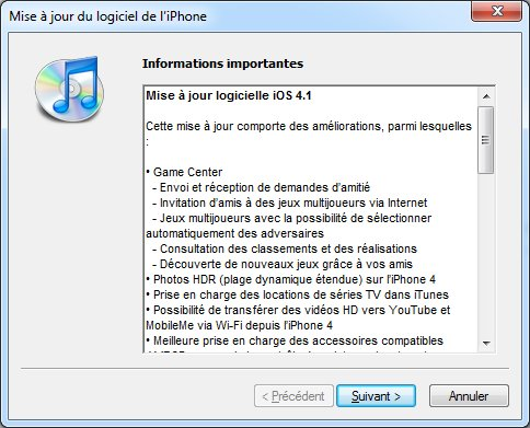Photo of iOS 4.1 disponible pour l'iPhone