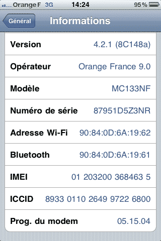 Photo de Jailbreaker l'iPhone en 4.2.1