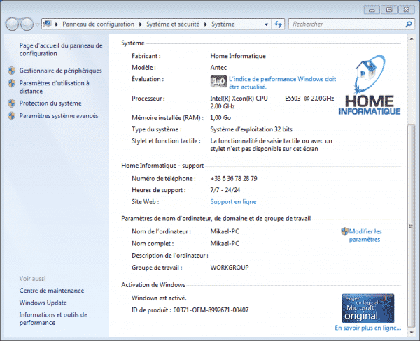 how to change oem information logo in windows 7