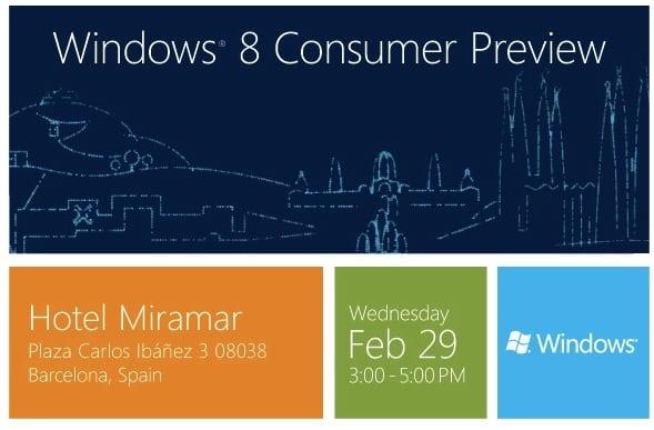 Photo of La bêta publique de Windows 8 sera lancée le 29 février 2012