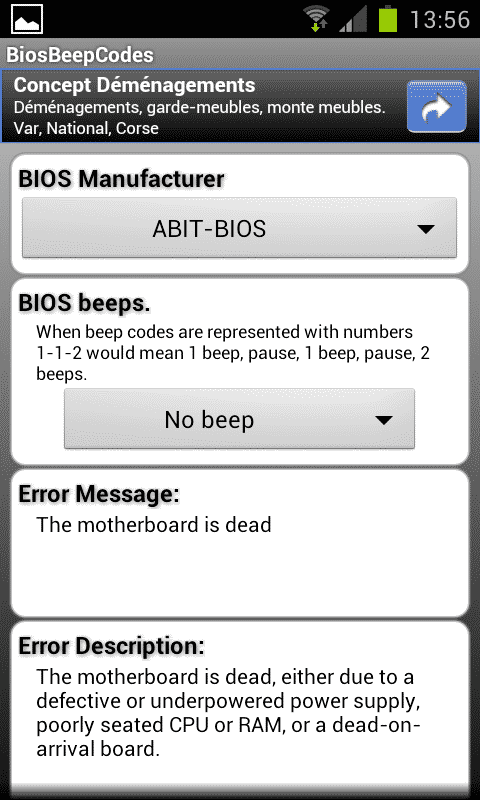 Photo of Bios beep codes sur Android