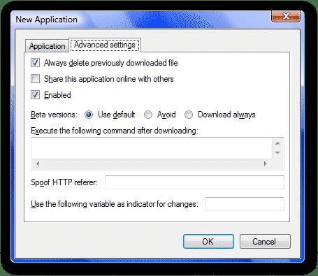 Ketarin-new-application-options