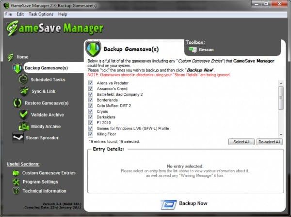 Photo of GameSave Manager : Sauvegarder facilement vos sauvegardes de jeux