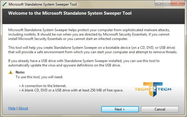 Photo de Microsoft Standalone System Sweeper : Antivirus Bootable