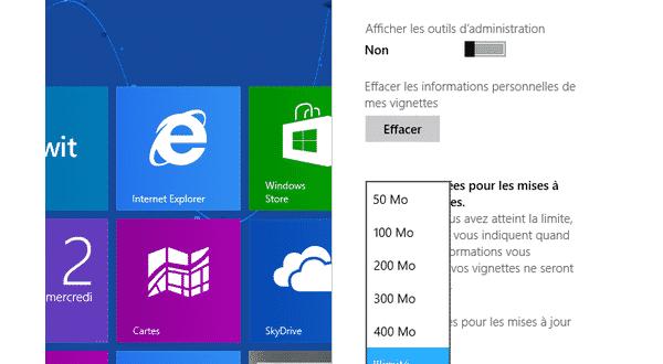 Windows 8 : Limiter la consommation Data des tuiles dynamiques