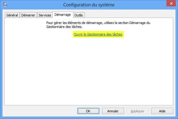 Photo de Gérer les applications au démarrage de Windows 8