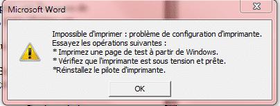 Windows 8/7/VISTA/XP : Spouleur d'impression bloqué !