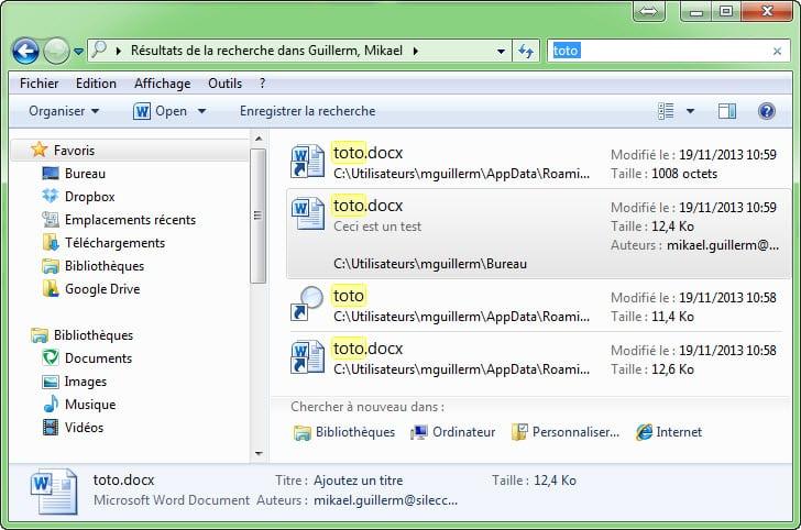 Comment utiliser les fonctions de recherche avanc es de for Fenetre windows outils