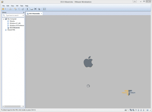 OSX-Mavericks-Vmware-demarrage