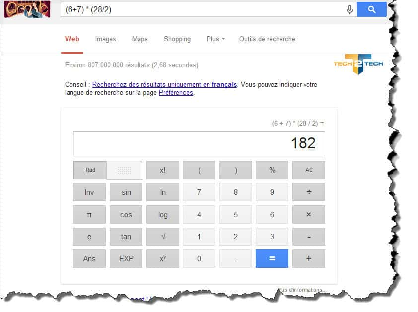 google-calculatrice