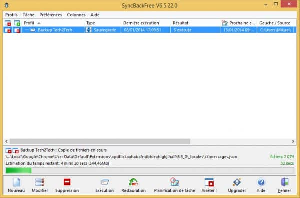 SyncBack-sauvegarde