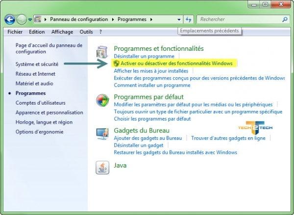 programmes-activer-fonctionnalités-Windows