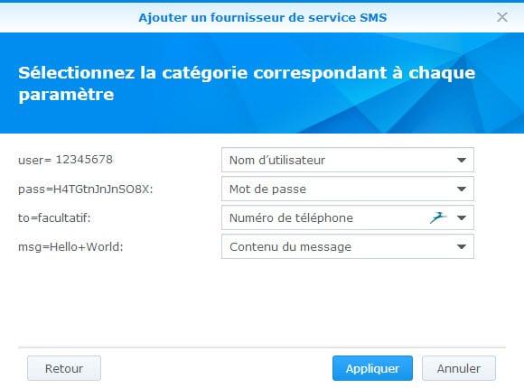 categorie correspondant SMS