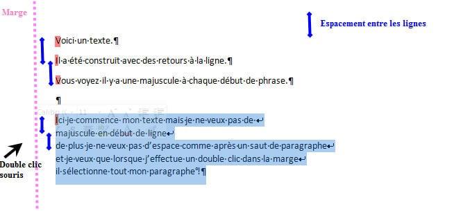 Remplacer Les Sauts De Ligne Par Des Retours Paragraphe Copier