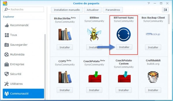 Synology-Installer-Bittorent-Sync
