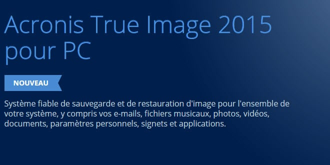 Photo of Acronis lance TrueImage 2015