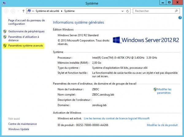 Pr parer windows server 2012 avant installation un r le - Bureau a distance windows server 2012 ...