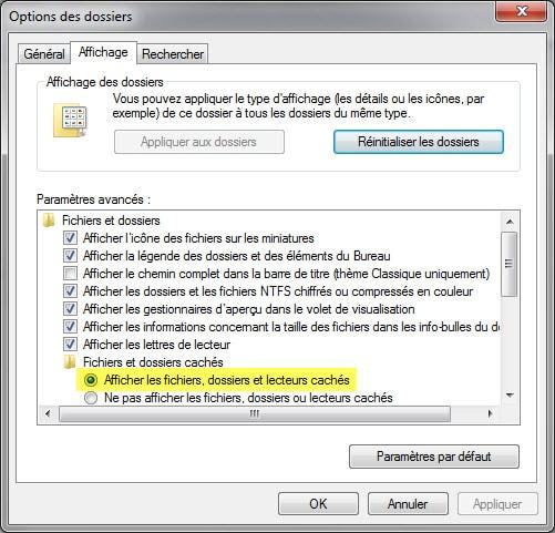 afficher fichiers cachés