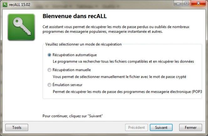 Interface RecAll
