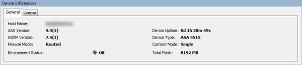 cisco asa check update device information