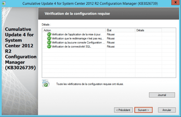 SCCM-Update-CU4-cfg-requise