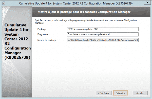 SCCM-Update-CU4-package-console