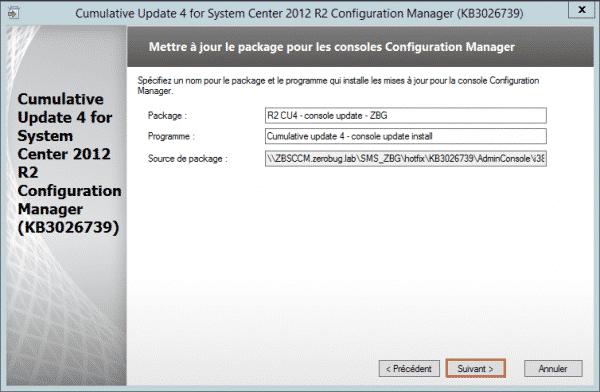 SCCM-Update-CU4-package-console