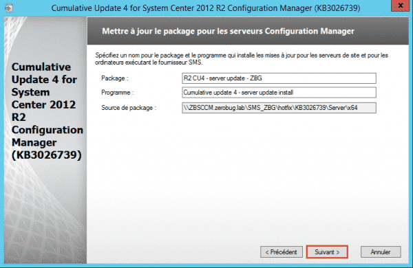 SCCM-Update-CU4-package-server