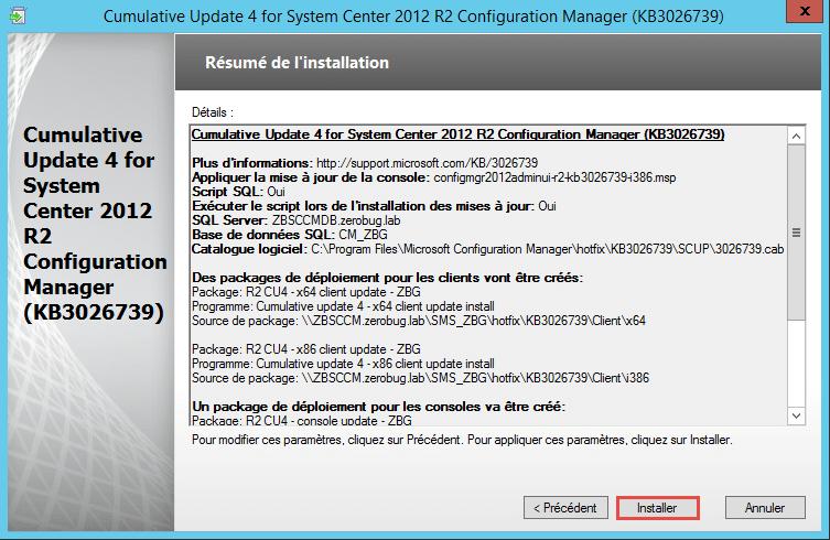 configuration resume