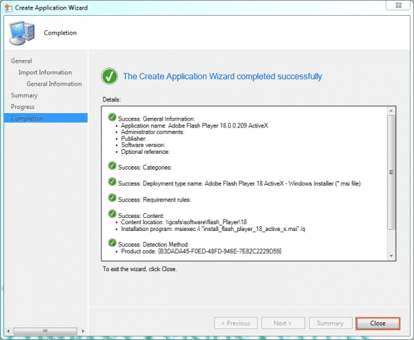 sccm-create-app-flash-completion