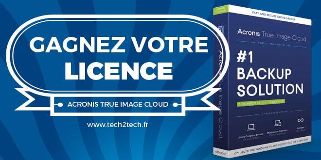 Photo of Concours : Gagnez votre licence Acronis True Image Cloud
