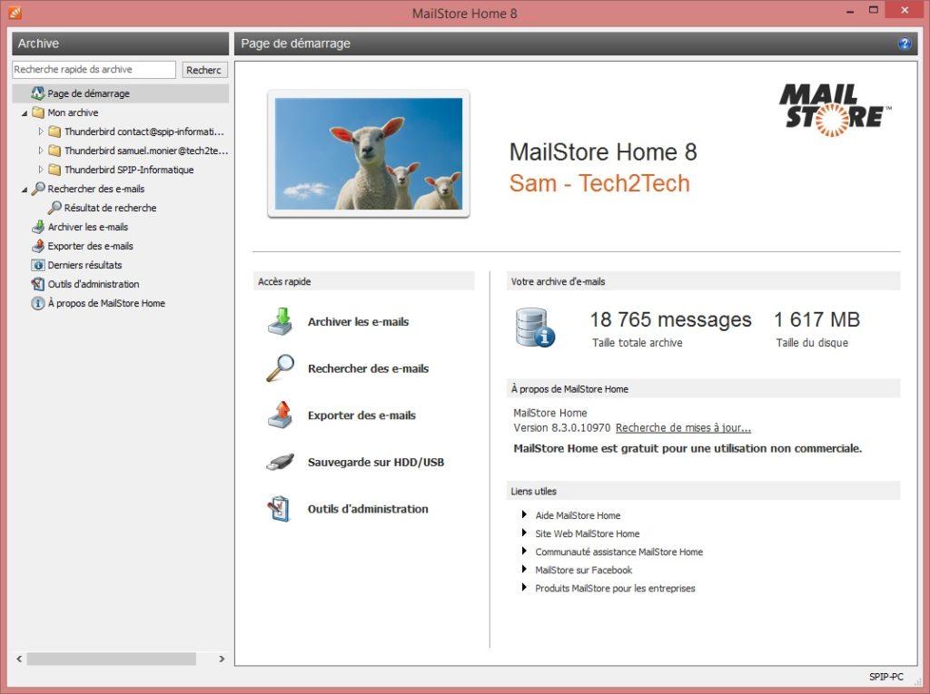MailStore Accueil