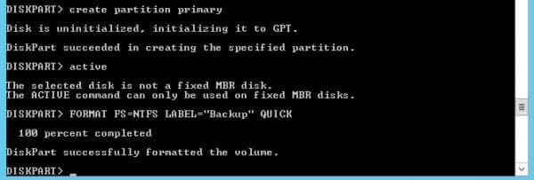 diskpart-format