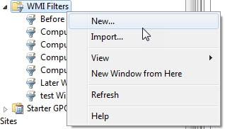 new-wmi-filter