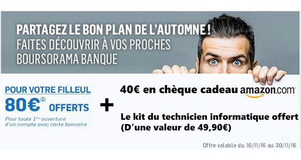 Photo of Gagnez plus de 120€ en ouvrant un compte chez Boursorama