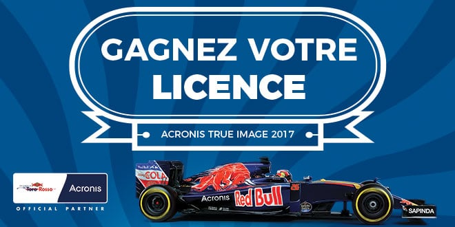 Concours : Gagnez votre licence Acronis True Image 2017