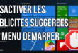 Supprimer les publicités du menu démarrer de Windows 10
