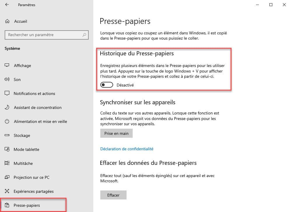 Windows 10 Comment Activer L Historique Du Presse Papiers