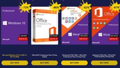 Photo of Licences Microsoft (Windows et Office) à partir de 10€ pour Noël !