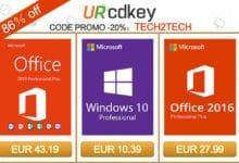 Photo of SuperDeal URcdkey : Licence Windows 10 à 10€ et Office 2019 Pro à 43€ !