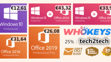 Photo of WhoKeys Promotion : Windows 10 Pro à 12€ et Office 2019 à 26€ !