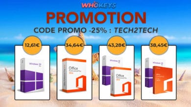 Photo de WhoKeys Promotion de la semaine : Windows 10 Pro à 12€ et Office 2019 à 31€