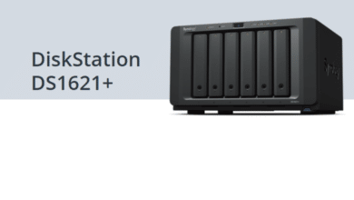 Photo de Synology DS1621+ : AMD Ryzen V1500B, 2x M.2, 4x RJ45 et PCIe 3.0 !